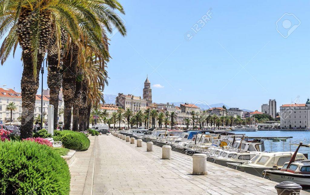 Embankment of Split, Croatia.